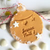 biscuit boule de noel, suspension sapin prénom