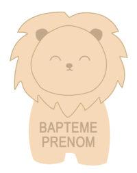 Sablés personnalisés Lion