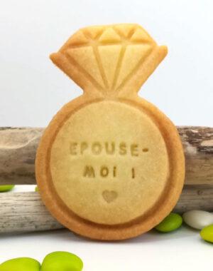 """Biscuit sablé """"BAGUE"""" à personnaliser"""