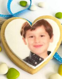 Biscuits personnalisés avec sa photo & petit mot d'enfant :)