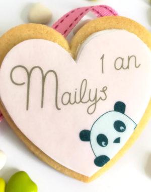 Biscuit personnalisé avec photo ou motif fille