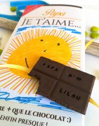 Tablette chocolat personnalisée – fête des pères
