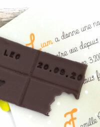 """Faire-part """"chocolat"""" personnalisé"""