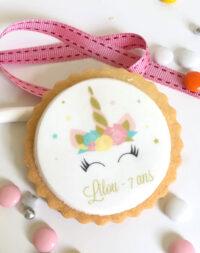 """Biscuit personnalisé """"Licorne"""""""