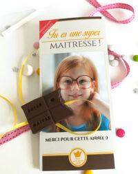 Tablette chocolat personnalisée – cadeau maitre/maitresse