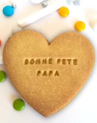 """Biscuits """"coeur"""" : """"bonne fête papa"""""""