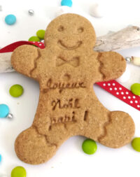 """x10 Biscuits sablés """"bonhomme pain d'épice"""" personnalisés (4 parfums au choix)"""