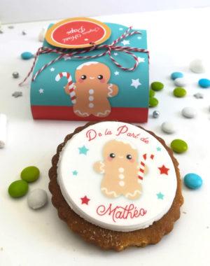 COFFRET CADEAU de Noël, 3 biscuits décorés & personnalisés (parfums au choix)