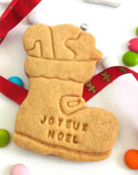 """x10 Biscuits sablés """"Botte de Noël"""" personnalisés (4 parfums au choix)"""