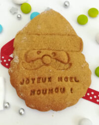 """x10 Biscuits sablés """"Père-Noël"""" personnalisés (4 parfums au choix)"""