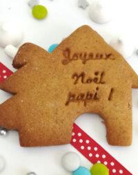 """x10 Biscuits sablés """"chalet de Noël"""" personnalisés (4 parfums au choix)"""