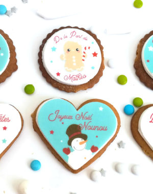 5 biscuits décorés & personnalisés (parfums au choix)