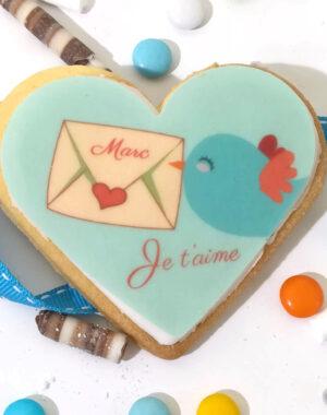 """Biscuit """"lettre d'amour"""" pour la Saint Valentin"""