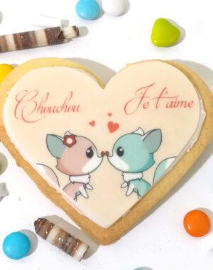 """Biscuit """"bisous d'amour"""" pour la Saint Valentin"""