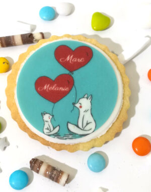 """Biscuit """"amoureux"""" de la Saint Valentin"""