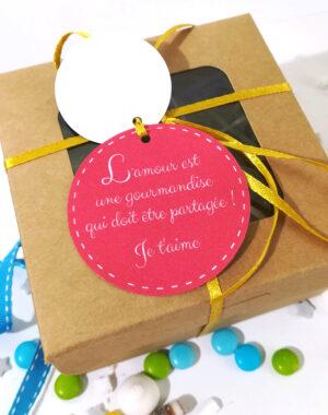 Coffret 3 biscuits personnalisés pour la Saint Valentin