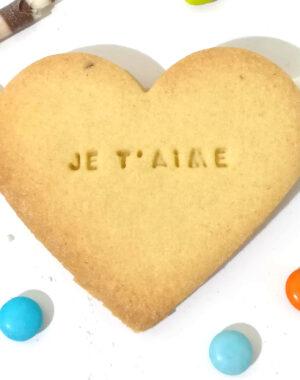 Biscuit sablé coeur Saint Valentin
