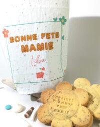"""Sachet à planter et biscuits aux graines """"spécial fête des grands mères"""""""