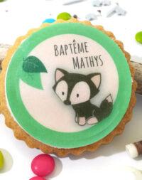 """Biscuit personnalisé thème """"Animaux de la forêt/Renard"""""""