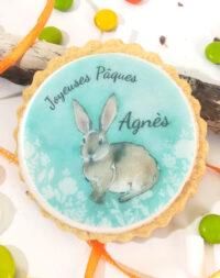 """X6 Biscuits personnalisés """"Lapin de Pâques"""""""