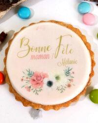 """Biscuit décoré """"Bonne Fête maman !"""""""