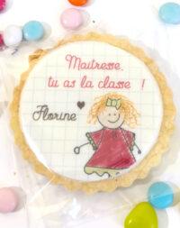 Biscuit décoré pour la maitresse (cadeau de fin d'année bien mérité !!)
