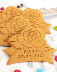 """Biscuit """"Rose"""" personnalisé"""