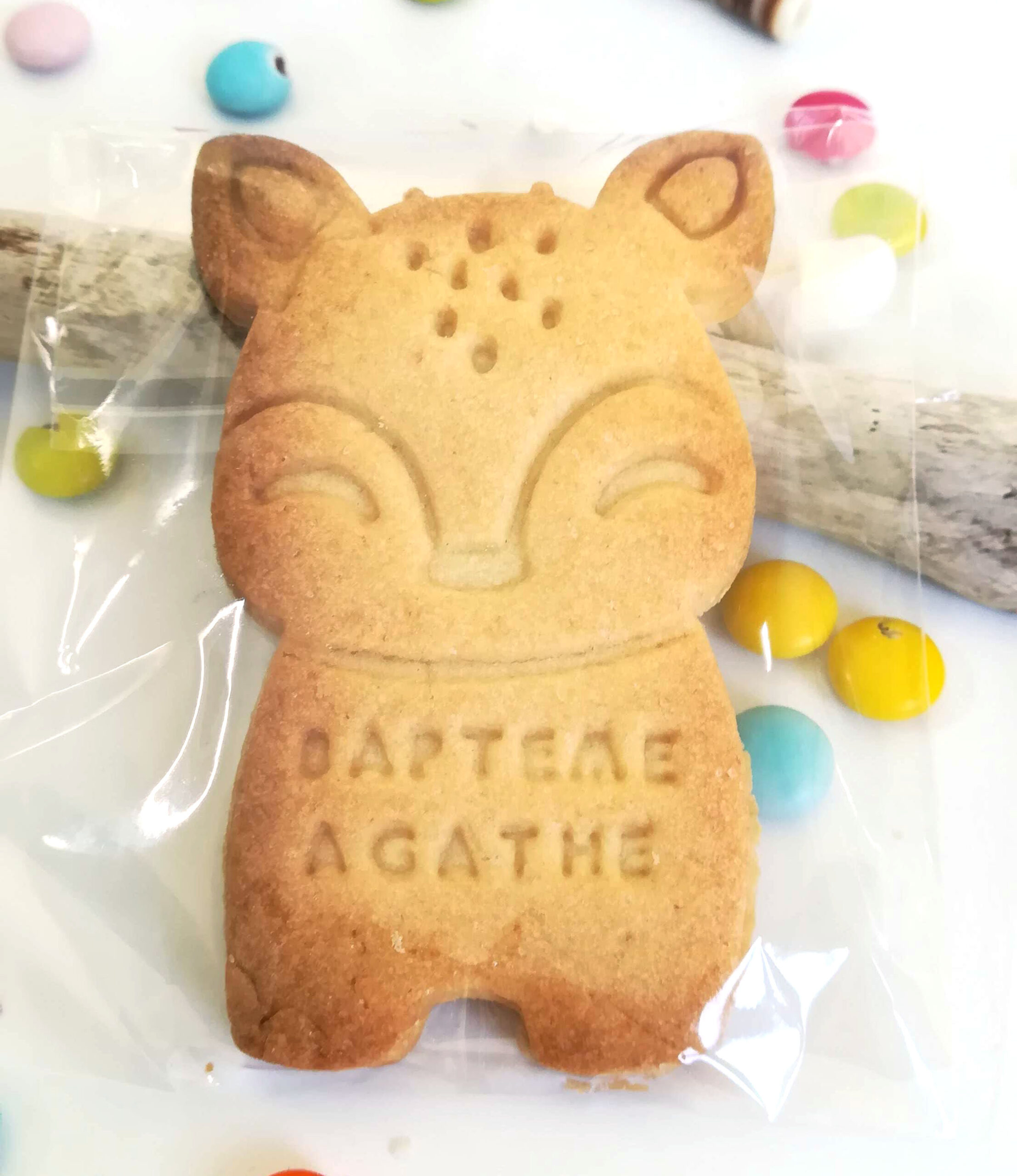 faon-biscuit-sable-personnalise-animaux-foret