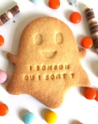 """Biscuit sablé personnalisé """"Fantôme d'Halloween"""""""