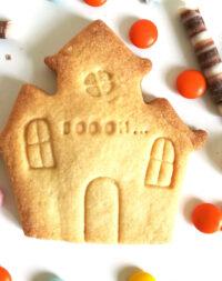 """Biscuit sablé personnalisé """"Manoir d'Halloween"""""""